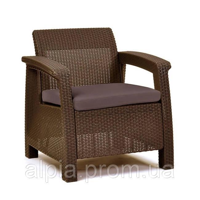 Кресло Allibert Corfu Duo коричневое