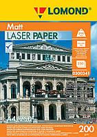 Двусторонняя матовая фотобумага для лазерной печати, 200 г/м2, А4, 250 листов