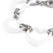 Керамический браслет Сердечки белый Арт. BS023CR, фото 2