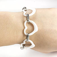 Керамический браслет Сердечки белый Арт. BS023CR, фото 4