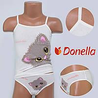 Детский комплект нижнего белья майка+трусики Donella, Турция. Donella 43344PS-1 2/3-R. Размер на 2-3 годикa.
