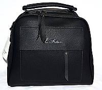 Женская маленькая сумка-саквояж 28*25 (черный)