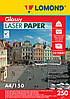 Двусторонняя глянцевая фотобумага для лазерной печати, 250 г/м2, А4, 150 листов