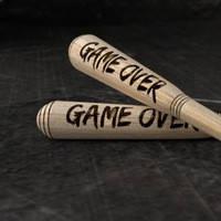 """Бита с выжиганием """"GAME OVER"""""""