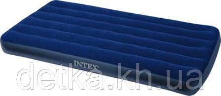 Матрас надувной велюровый Intex 68757  191*99*22см
