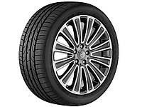 Оригинальный литой 12-спицевый диск R19, для Mercedes GLC, тремолит (металлик), полированный