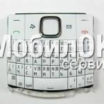 Клавиатура для Nokia X2-01 белая рус., оригинал (9792D98)