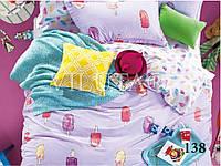 """Детский комплект постельного белья """"Viluta"""" твил-сатин простынь на резинке Вилюта №138"""