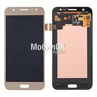 Дисплей для Samsung J500H/DS Galaxy J5 золотой, с тачскрином, High Copy