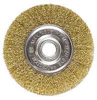 Щетка дисковая 200х22 мм, для УШМ, плоская металлическая (MTX, 746689)