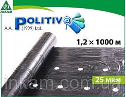 Пленка для мульчирования POLITIV E1103 черная  с перфорацией 1,2 х 1000 м