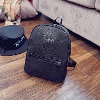 Городской женский мини-рюкзак  черный
