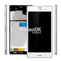 Дисплей для Sony D6603 Xperia Z3/D6633 Xperia Z3 DS/D6643/D6653 Xperia Z3 белый, с рамкой