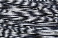 Шнур плоский 15мм (50м) св.серый+т.синий