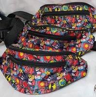 Поясная сумка для девочек и мальчиков, смайлики