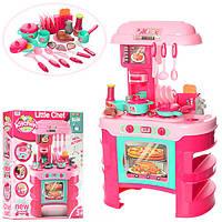 Детская кухня Little Chef 008-908, 69 см высота, тостер, свет, музыка. Розовая