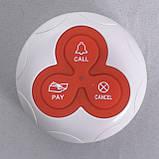 Кнопка виклику офіціанта і персоналу R-333 Red RECS USA, фото 2