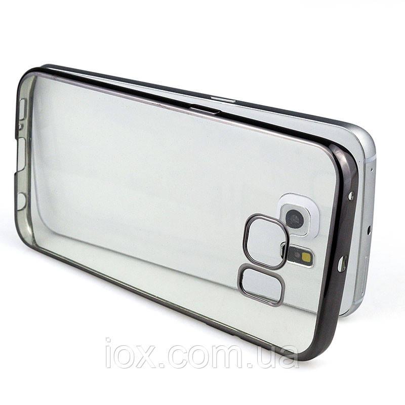 Силиконовый TPU чехол с черным ободком для Samsung Galaxy S7