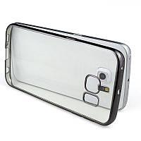 Силиконовый TPU чехол с черным ободком для Samsung Galaxy S7, фото 1