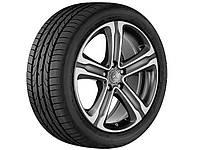 Оригинальный литой 5-спицевый диск R18, для Mercedes GLC, тремолит (металлик), полированный