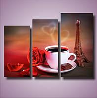 "Модульная картина ""Утро в Париже"""