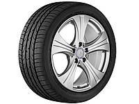 Оригинальный литой 5-спицевый диск R18, для Mercedes GLC, тремолит (металлик), серебристый ванадий