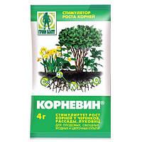 Корневин 4 г стимулятор роста корней у черенков, рассады, луковиц, GREEN BELT
