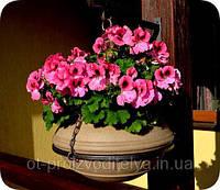 Вазон уличный ф 350 мм, садово - парковый пластиковый для цветов (Термочаша - двойные стенки) Песчанник
