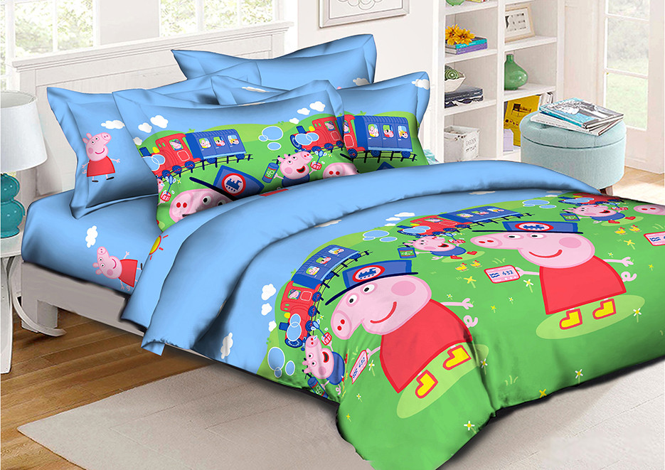 Детское постельное бельё Свинка Пеппа 150*220 хлопок (7644) TM KRISPOL Украина