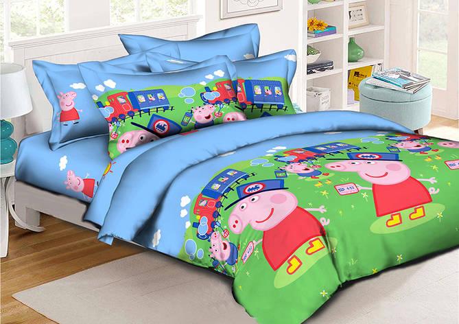 Детское постельное бельё Свинка Пеппа 150*220 хлопок (7644) TM KRISPOL Украина, фото 2