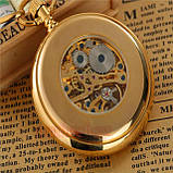 Карманные часы с цепочкой механические бронза, фото 2