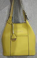 Женская кожаная сумка Michael Kors. Цвета: черный, горчичный. Материал: эко-кожа.