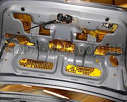 Крышку багажника Chevrolet Aveo виброизолировать сложно, но возможно.