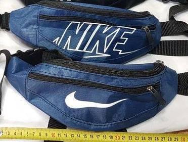 Поясная сумка для денег найк, синяя, фото 2
