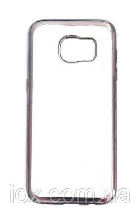 Чехол Baseus прозрачный силиконовый с черным ободком для Samsung Galaxy S7 Edge
