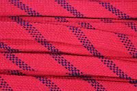 Шнур плоский 15мм акрил (50м) красный+т.синий, фото 1