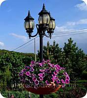 """Вазон на столб, фонарь сборной  Ф750 мм """"Зеленый"""" уличные горшки (Термочаша двойные стенки) для цветов."""