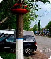 """Вазон на столб, фонарь сборной  Ф750 мм Серый гранит"""" уличные горшки (Термочаша двойные стенки) для цветов."""