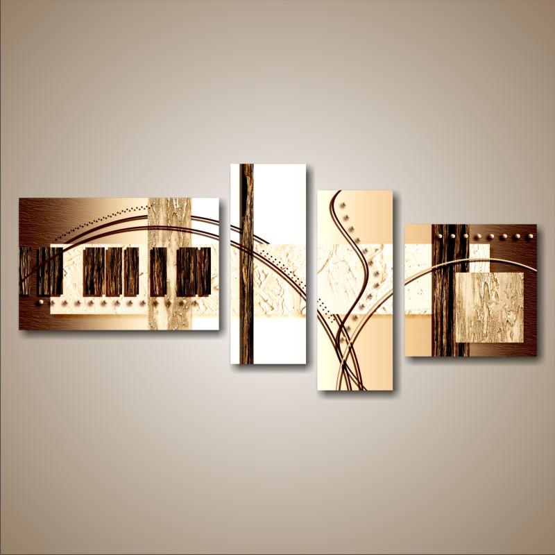 """Модульна картина """"Абстракція коричнева"""""""