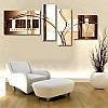 """Модульна картина """"Абстракція коричнева"""", фото 2"""