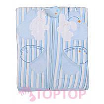 Одеяло голубое 85х95 см