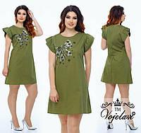 Женское Платье Трапеция ( KL049/Olive)