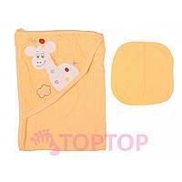 Полотенце  для купания, оранжевое 70х70 см