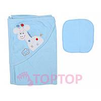Полотенце  для купания, голубое 70х70 см