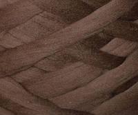Толстая, крупная пряжа 100% шерсть.  25 мкрн. Цвет: Шоколад. Топс.