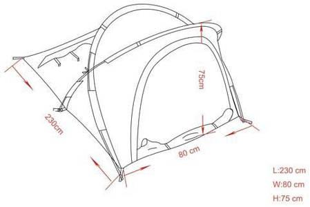 Палатка одноместная MFH Osser Olive 32173B, фото 2