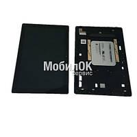 Дисплей для Asus ZenPad 10 Z300C черный, с тачскрином и рамкой в сборе (CLAA101WR61)