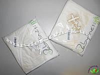 Полотенце для крещения с вышивкой, Турция, оптом (молочный)