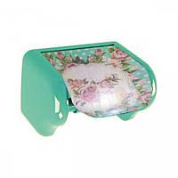 Держатель для бумаги туалетной, с деколью Пиония, 16,5x11,5x11,5см Elif plastik 386-12LF