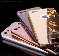 Металлический зеркальный чехол бампер для Apple iPhone 5C (4 цвета в наличии)